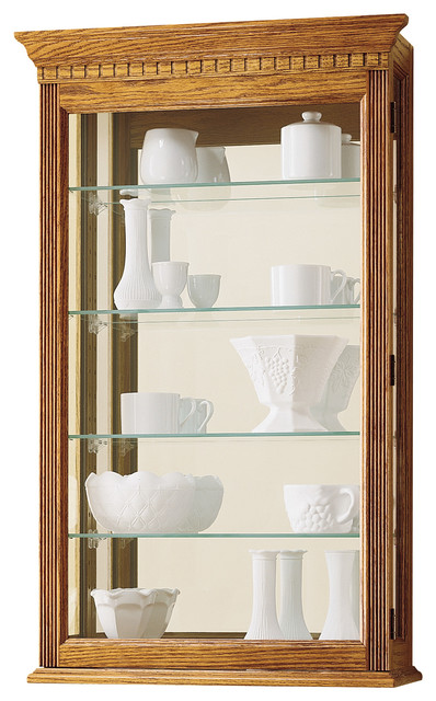 Howard Miller Montreal Wall Display Curio Cabinet - Traditional - China Cabinets And Hutches ...