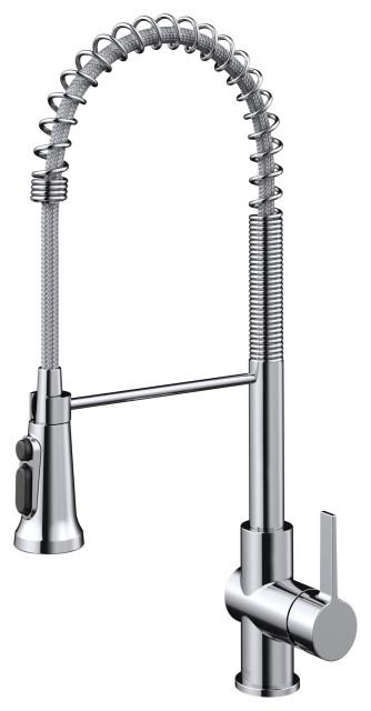 Britt 3-Function Pull-Down Water Filter Kitchen Faucet CH, Model KFF-1691CH