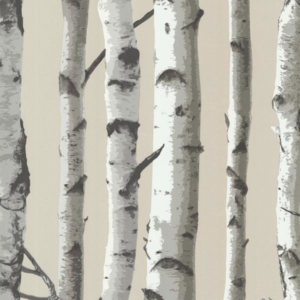 Shop Houzz Brewster Home Fashions Irvin Gray Birch Tree