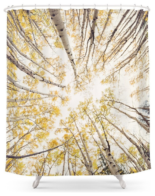 Society6 Fall Looking Up Shower Curtain