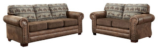 Deer Teal 4-Piece Sofa Set