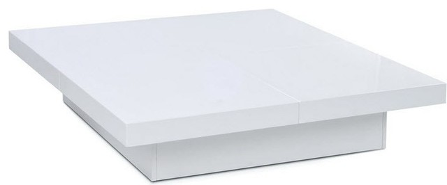 Susie Modern Square White Lacquer Coffee Table Modern Coffee Tables