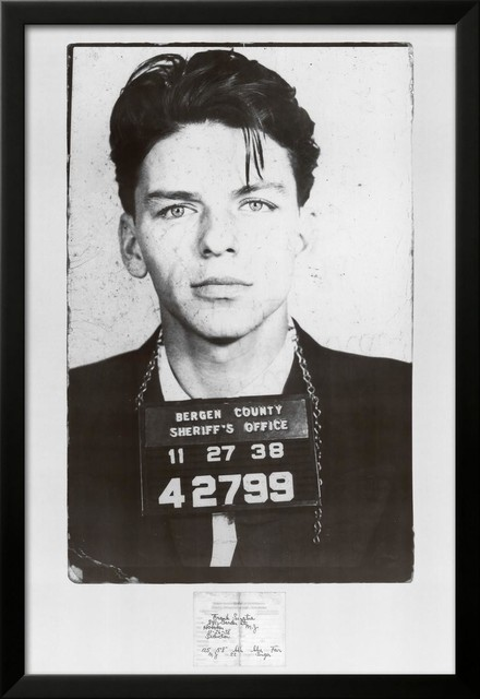 Frank Sinatra-Mugshot Framed Art Print - Contemporary - Prints And ...