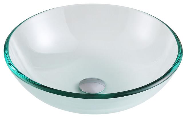 Etude Series Vessel Sink, Lustrous Clear.