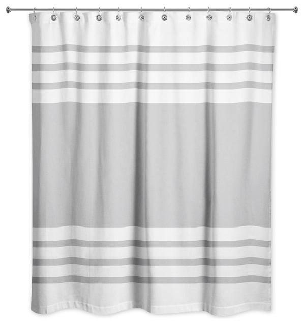 Farmhouse Stripe Shower Curtain
