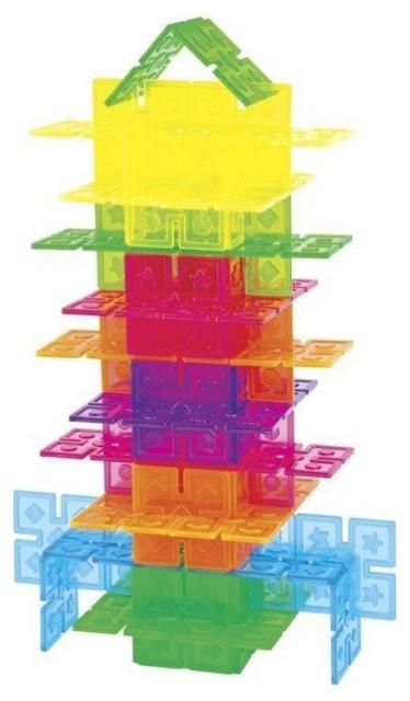 Guidecraft Translucent Plastic Panels Interlox - 96 Pieces