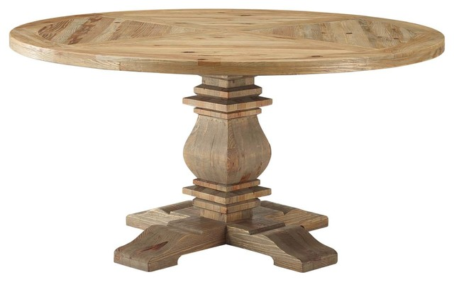 Country Cottage Farm Beach House Dining Room Dining Table, Wood, Brown by America Luxury