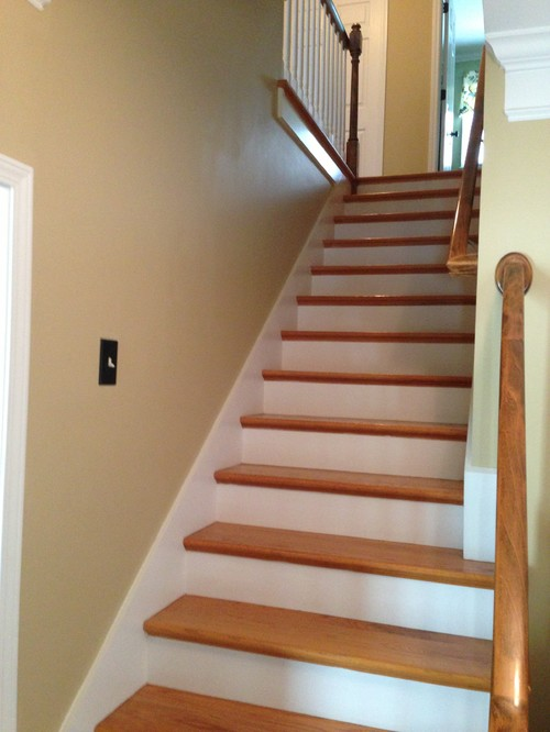 should we put side boxing up the stairs also what about On boxing in open stairs