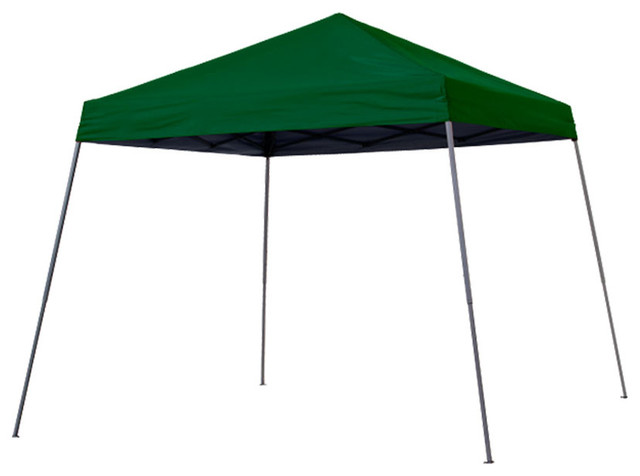 Quikchair Quik Shade Expedition 12&x27;x12&x27; Slant Leg Canopy, Green Cover/gray Frame.