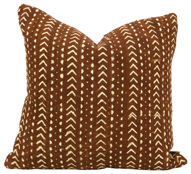 Gurage Decorative Pillow Authentic Rust Colored African Mud Cloth Mesmerizing Rust Colored Decorative Pillows