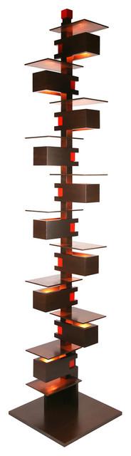 Frank Lloyd Wright Taliesin 2 Midcentury Floor Lamp, Walnut.