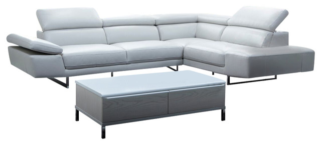 Italian Leather Sectional Right Hand Facing.