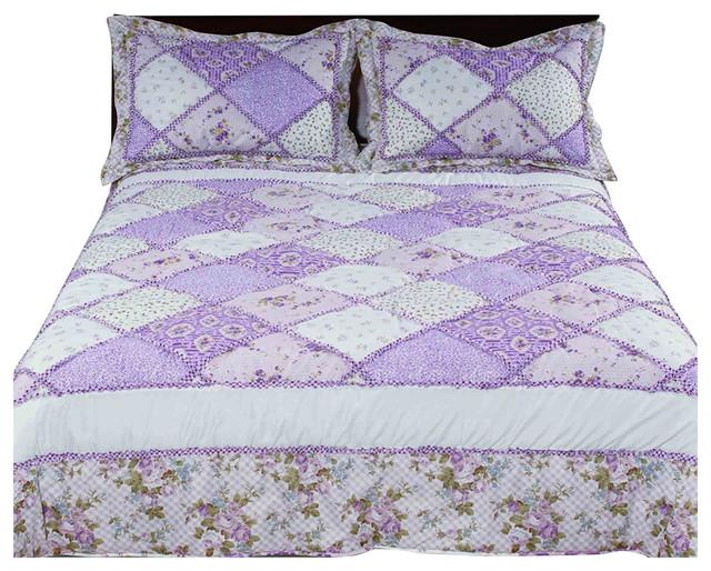 5 Piece Livingston Lilac//Gray Reversible Comforter Set