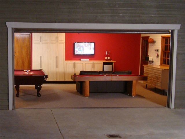 Deluxe Garage & Game Room contemporary-garden-shed-and-building