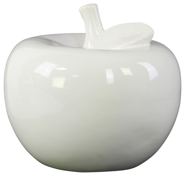 Urban trends collection ceramic apple figurine for Modern decorative objects