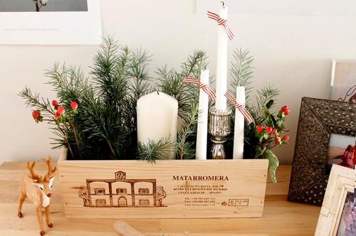 Hazlo tú mismo: un centro navideño en una caja de vino
