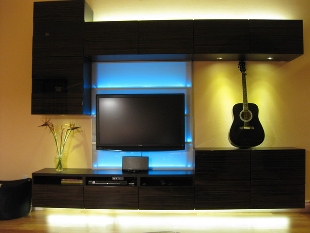 Blue LED Light Modern Living Room Part 38