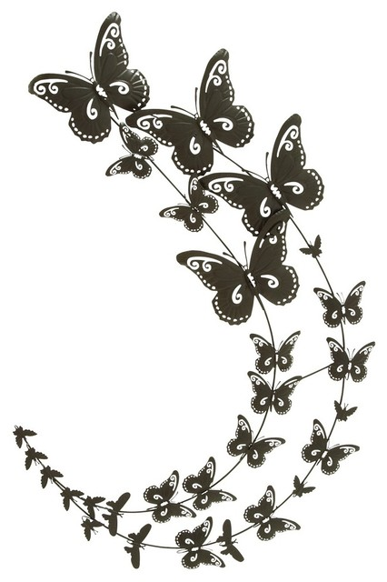 Metal Butterfly Wall Decor Contemporary Metal Wall Art