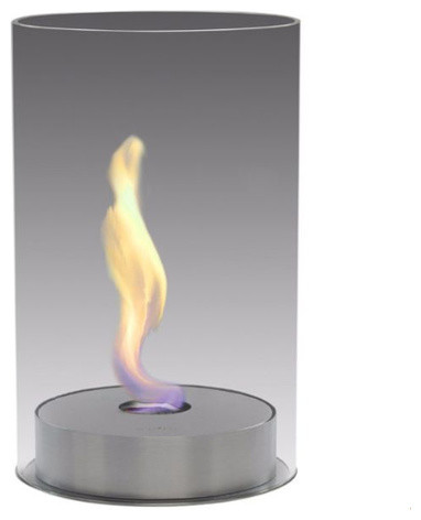 Eco Feu Romeo Biofuel Fireplace In Stainless Steel Contemporary