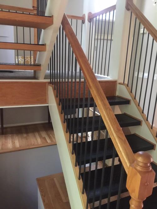 Floating Stair Tread Revamp