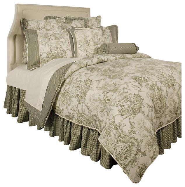 Sherry Kline Country Toile Sage 6-Piece Comforter Set