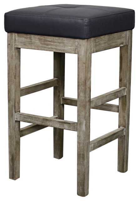 New Pacific Direct Inc Valencia Bonded Leather Backless  : farmhouse bar stools and counter stools from www.houzz.com size 444 x 640 jpeg 55kB