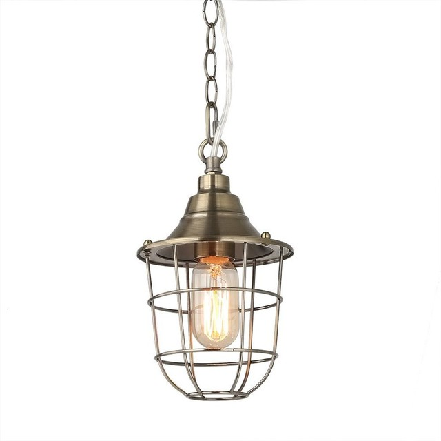 1 Light Caged Pendant Nautical Ceiling Lamp Lighting By Lami