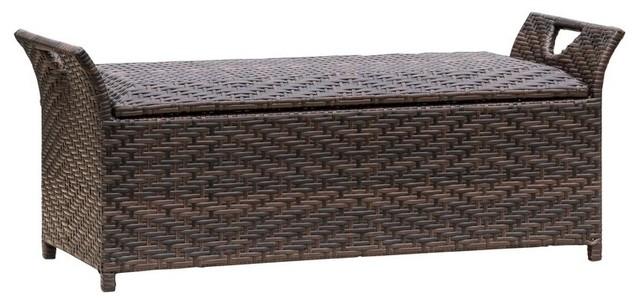 Wicker Storage Bench.