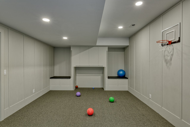 Fun for All Basement Remodel transitional