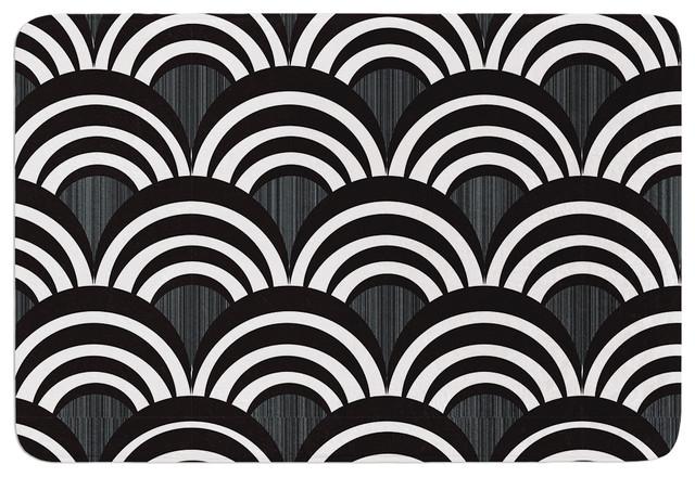 Nicole Ketchum Art Deco Black Memory Foam Bath Mat