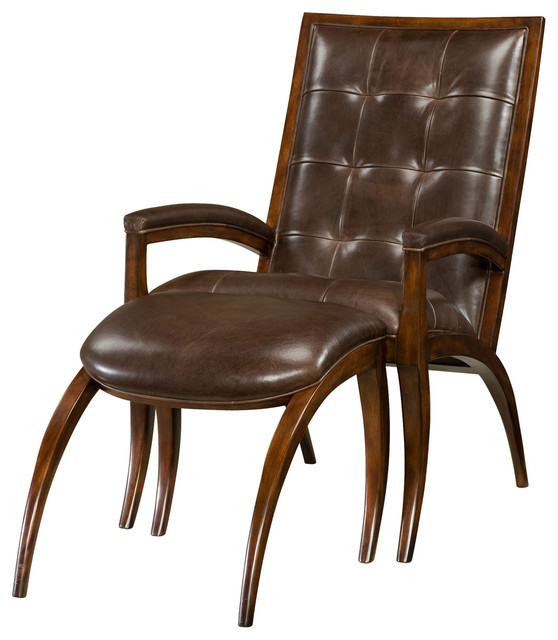 Delightful Theodore Alexander Keno Bros Arc Chair And Ottoman Armchairs And Accent  Chairs