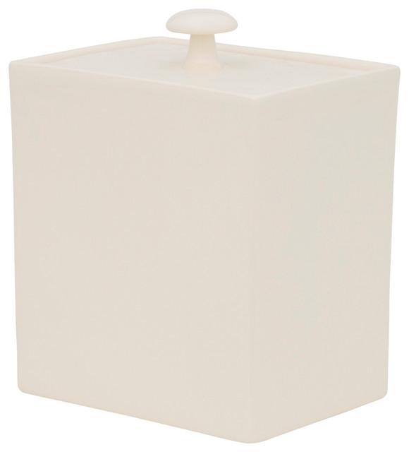 Varius Rectangular Ceramic Biscuit Jar, Ivory