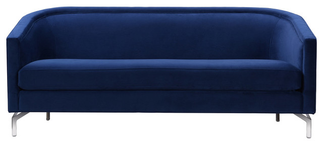 Annette Cabriole Sofa Navy Blue