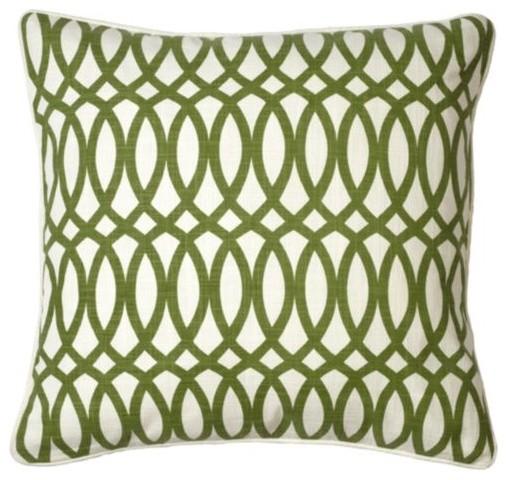 Geo Pillow Apple Green Modern Bed Pillows By Z Gallerie