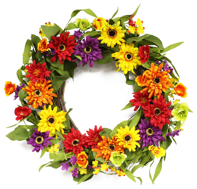 "Puleo International 20"" Artificial Chrysanthemum Wreath."