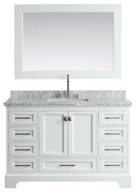 Omega 54 Single Sink Vanity Set White