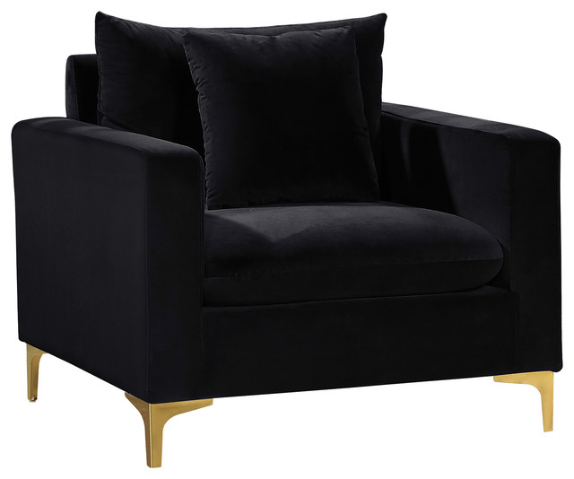 Admirable Naomi Velvet Chair Gold And Chrome Leg Set Black Evergreenethics Interior Chair Design Evergreenethicsorg