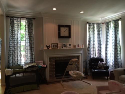 Need Curtain Help. Corner Solid Brass Shower Curtain Rod