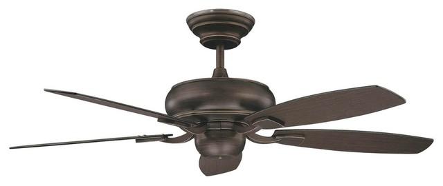 """52"""" Roosevelt Ceiling Fan, Oil Rubbed Bronze."""