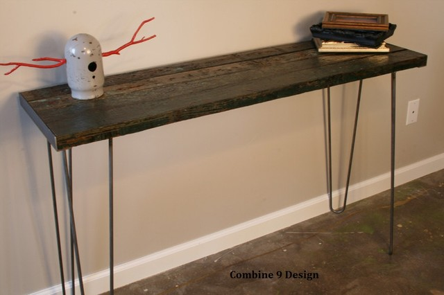Exceptional Console Table, Minimalist, Mid Century, Hairpin Legs, Urban, Rustic, Modern