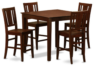 5 Piece Pub Table Set-Pub Table And 4 Kitchen Chairs