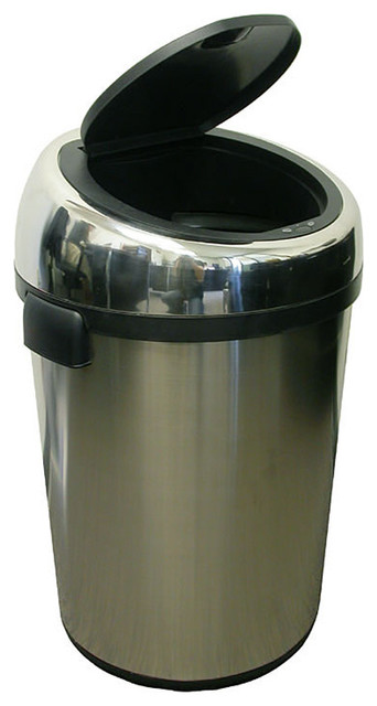 itouchless large commercial size stainless steel automatic trash can 18 gal moderntrash