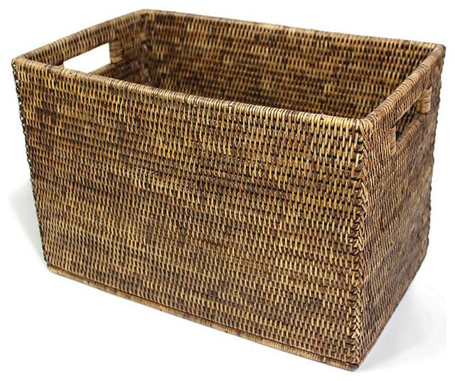 Shop Houzz Matahari Rattan Letter File Basket Baskets