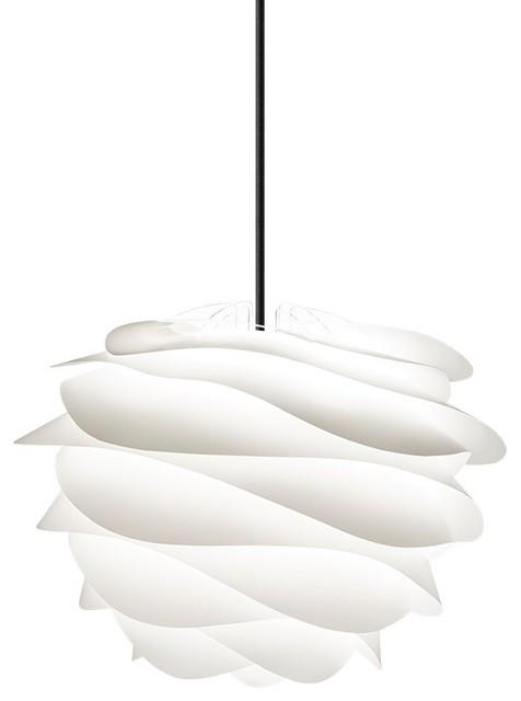 Carmina Hardwired Pendant, Black/white.