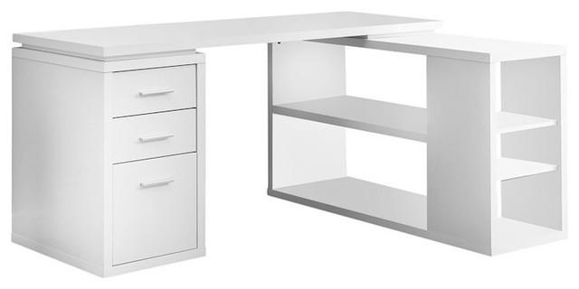 Computer Desk, White Left Or Right Facing Corner