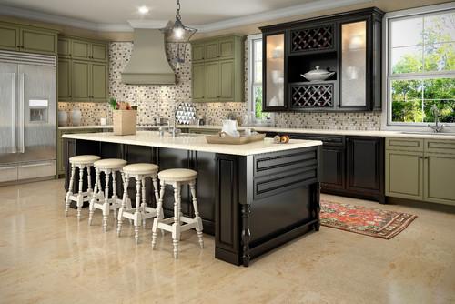 Multi Color Kitchen Cabinets Design Ideas