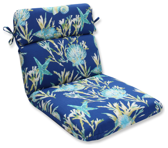 Beach Style Outdoor Cushions : Daytrip Rounded Corners Chair Cushion - Beach Style - Outdoor Cushions And Pillows - by Pillow ...