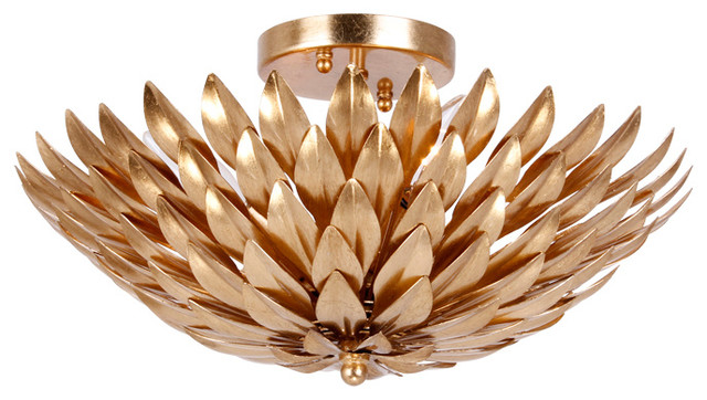 Crystorama Broche 4 Light Gold Ceiling