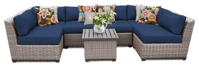 Florence 7 Piece Outdoor Wicker Furniture Set 07C