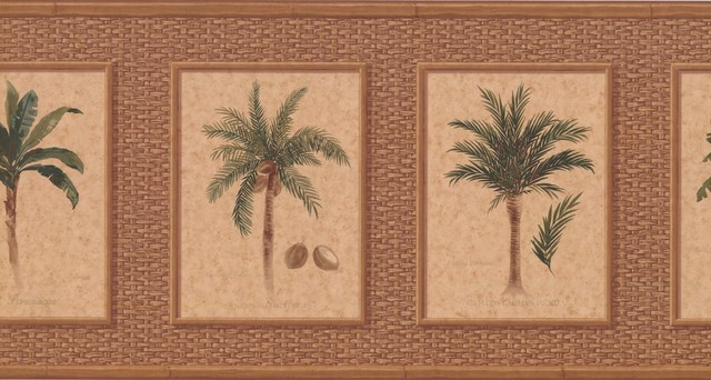 Palm Tree Wallpaper Border Tropical